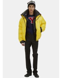 Raf Simons | Blue Men's Double-layered Down Quilted Jacket In Yellow And Black for Men | Lyst