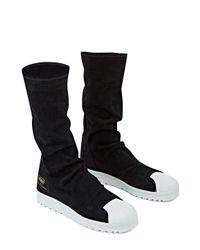 Adidas Originals - Black Adidas By Superstar Ripple Sneakers - Lyst