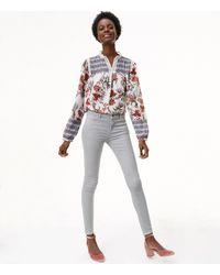 LOFT - Multicolor Petite Skinny Brushed Corduroy Pants In Modern - Lyst