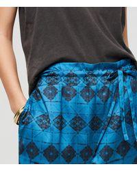 LOFT Blue Lou & Grey Shibori Harem Pants