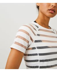 LOFT   Gray Lou & Grey Form Shadow Stripe Tee - High Impact   Lyst