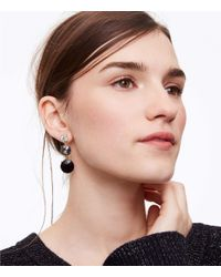 LOFT - Metallic Cast Linear Earrings - Lyst
