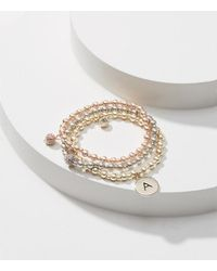 LOFT | Metallic Initial Stretch Bracelet Set | Lyst