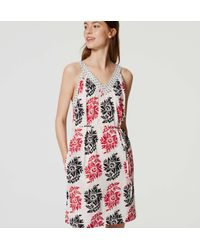 LOFT - Multicolor Petite Inked V-neck Dress - Lyst