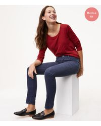 LOFT   Multicolor Petite Modern Skinny Corduroy Pants   Lyst