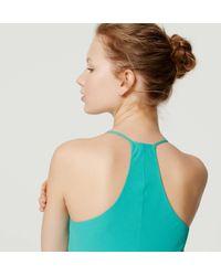 LOFT - Green Strappy Racerback Dress - Lyst