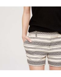 "LOFT - Black Diamond Stripe Riviera Shorts With 4"" Inseam - Lyst"