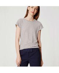 "LOFT - Blue Riviera Shorts With 4"" Inseam - Lyst"