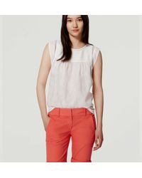LOFT - Multicolor Bermuda Roll Shorts - Lyst
