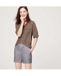 "LOFT - Gray Riviera Shorts With 6"" Inseam - Lyst"