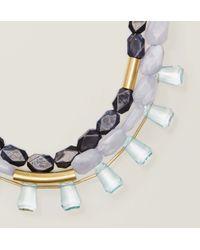 LOFT | Metallic Glossy Multistrand Bar Necklace | Lyst