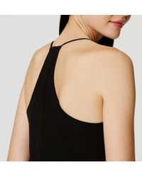 LOFT - Black Petite Strappy Racerback Dress - Lyst