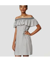 LOFT - Gray Tall Centro Off The Shoulder Dress - Lyst