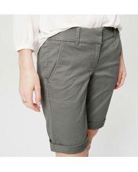 LOFT - Gray Petite Bermuda Roll Shorts - Lyst