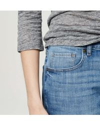 LOFT - Blue Petite Relaxed Skinny Jeans In Bright Mid Vintage Wash - Lyst