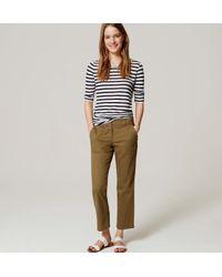 LOFT - Green Petite Kick Crop Utility Pants In Marisa Fit - Lyst