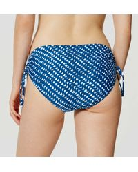 LOFT - Blue Beach Batik Side Ruched Bikini Bottom - Lyst