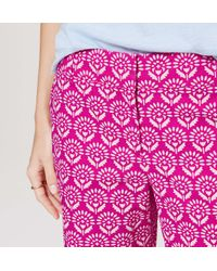 "LOFT - Pink Petite Botanic Riviera Shorts With 5 1/2"" Inseam - Lyst"