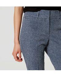 LOFT - Blue Petite Flecked Riviera Cropped Pants In Marisa Fit - Lyst
