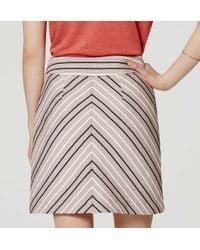 LOFT - Multicolor Chevron Tweed Skirt - Lyst