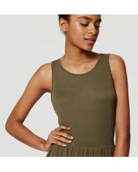 LOFT - Green Petite Mixed Media Maxi Dress - Lyst