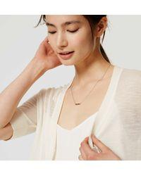 LOFT - White Petite Sheer Short Sleeve Cardigan - Lyst