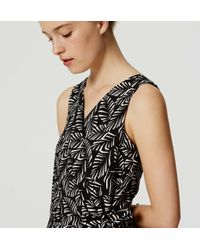 LOFT - Black Petite Palm Tie Waist Romper - Lyst