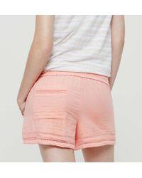 LOFT - Gray Petite Lou & Grey Sightseer Shorts - Lyst
