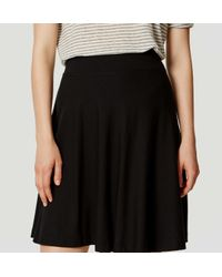 LOFT - Black Petite Knit Circle Skirt - Lyst