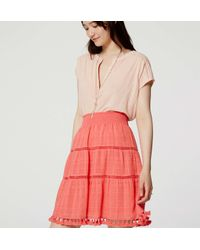 LOFT - Multicolor Tasseled Skirt - Lyst