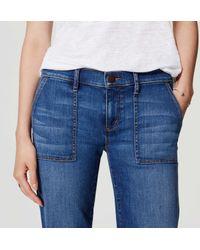 LOFT - Blue Wide Leg Trouser Jeans In Bright Indigo Wash - Lyst