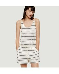 LOFT - Multicolor Lou & Grey Striped Bare Romper - Lyst