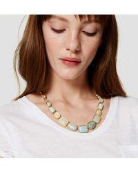 LOFT - Metallic Marbleized Necklace - Lyst