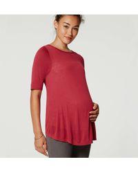 LOFT - Red Maternity Swing Tee - Lyst