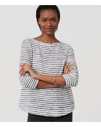 LOFT | Black Petite Textured Stripe Top | Lyst