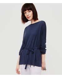 LOFT - Blue Lou & Grey Drawstring Tunic Sweater - Lyst
