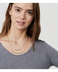 LOFT - Metallic Layered Necklace - Lyst