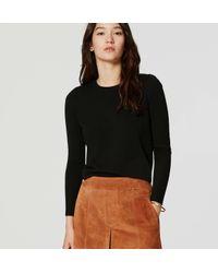LOFT | Black Puff Sleeve Sweater | Lyst