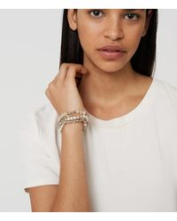 LOFT - Metallic Pearlized Stretch Bracelet Set - Lyst