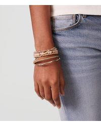 LOFT - Metallic Twist Bangle Set - Lyst