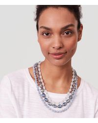 LOFT - Metallic Blue Sky Multistrand Necklace - Lyst