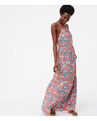b6fa6352d86e LOFT Beach Floral Tiered Halter Maxi Dress - Lyst