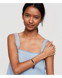 LOFT - Blue Shashi Three Strand Ombre Stretch Bracelet - Lyst
