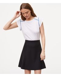 LOFT | Black Pull On Flippy Skirt | Lyst