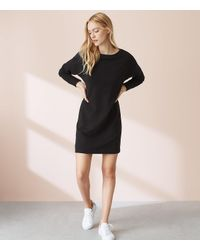 LOFT - Black Lou & Grey Balance Terry Dolman Dress - Lyst