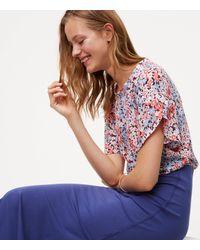 LOFT - Blue Seamed Maxi Skirt - Lyst