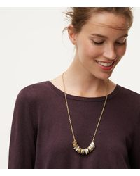 LOFT - Metallic Stone Stacked Necklace - Lyst
