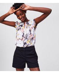 "LOFT - Black Riviera Shorts With 4"" Inseam - Lyst"