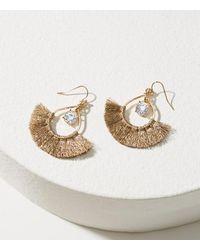 LOFT   Metallic Stone Tassel Earrings   Lyst
