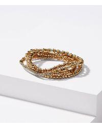 LOFT - Metallic Stretch Bracelet Set - Lyst